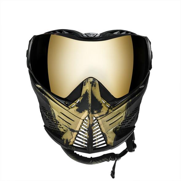 Push Unite Paintball Mask - Infamous Skull Gold