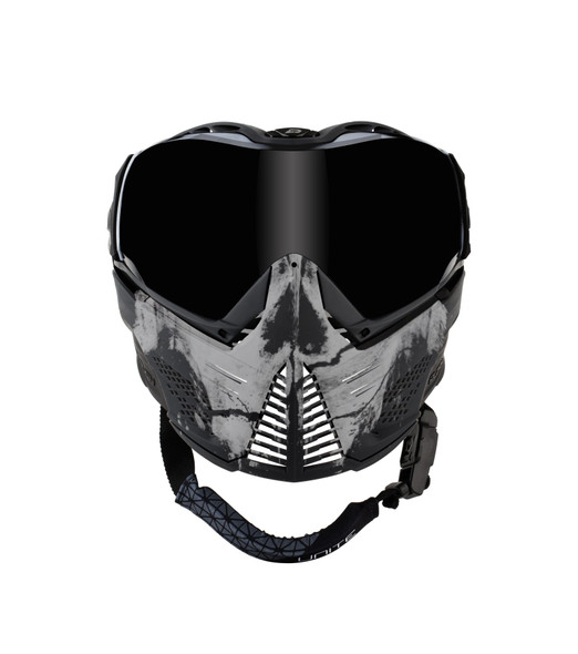 Push Unite Paintball Mask - Infamous Skull White