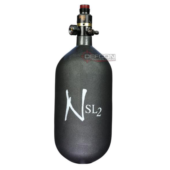 Ninja 77/4.5k SL2 Super Light PRO V2 HPA Paintball Tank - Gunsmoke