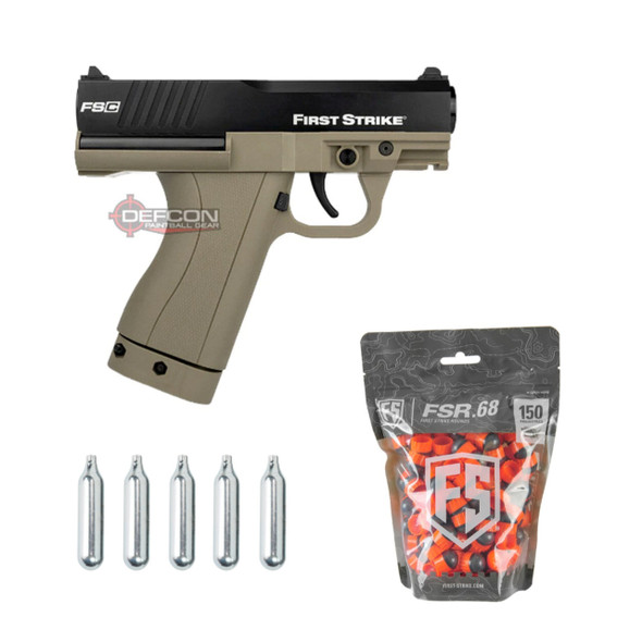 First Strike FSC Paintball Pistol - FDE w/ 150 FSR Bundle