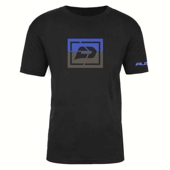 Push T-Shirt Sliced | Black & Blue