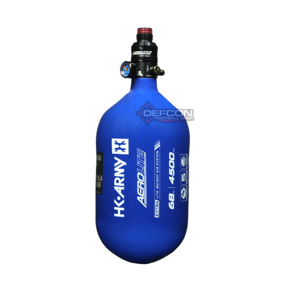 HK Army 68/4500 Extra Lite Air Tank w/ Aerolite2 Pro Regulator - Blue