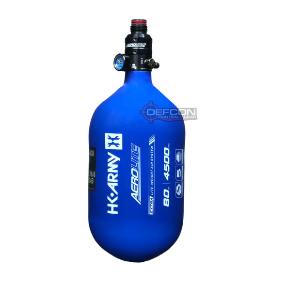 HK Army 80/4500 Extra Lite Air Tank w/ Aerolite2 Pro Regulator - Blue