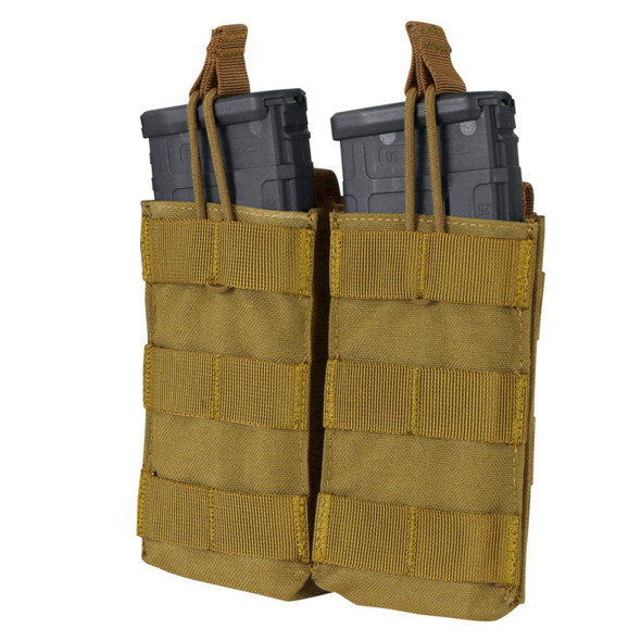 Condor Double M4/M16 Open Top Mag Pouch / Coyote Brown