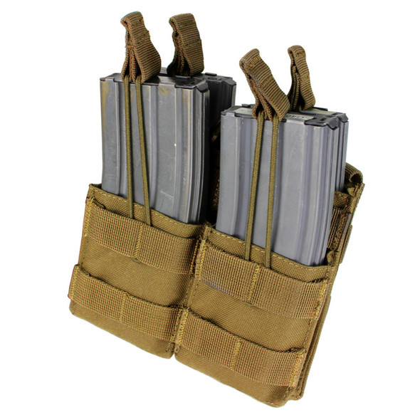 Condor Double Stacker M4 Mag Pouch / Coyote Brown
