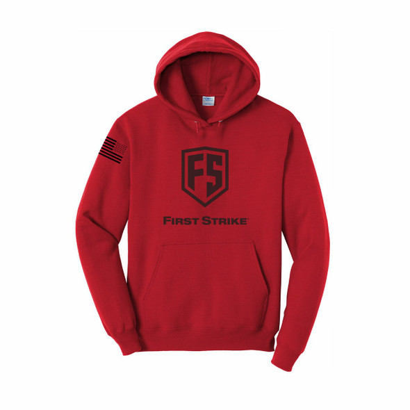 First Strike Hoodie / Red