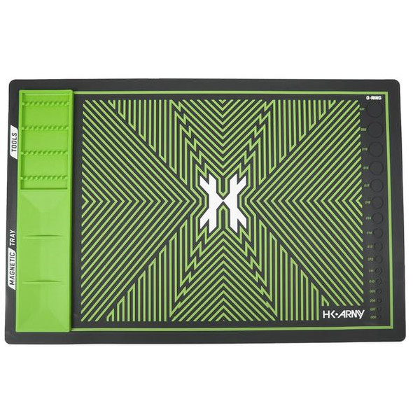 HK Army MagMat - Magnetic Tech Mat - Black/Neon Green