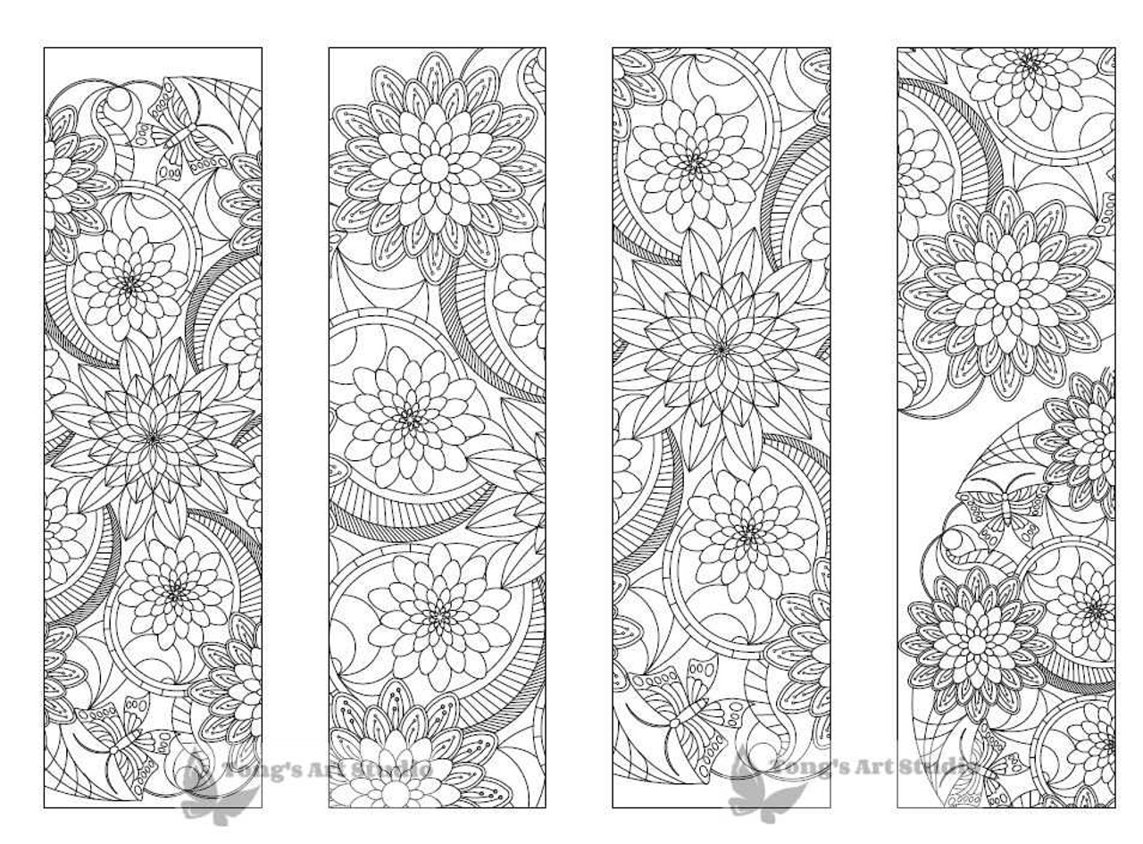 4 Printable Mandala Coloring Bookmarks-18-1