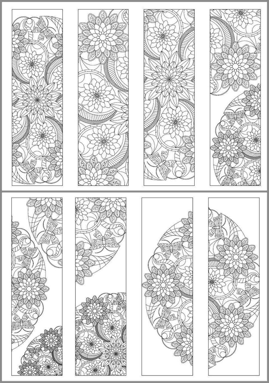 8 Printable Mandala Coloring Bookmarks-18