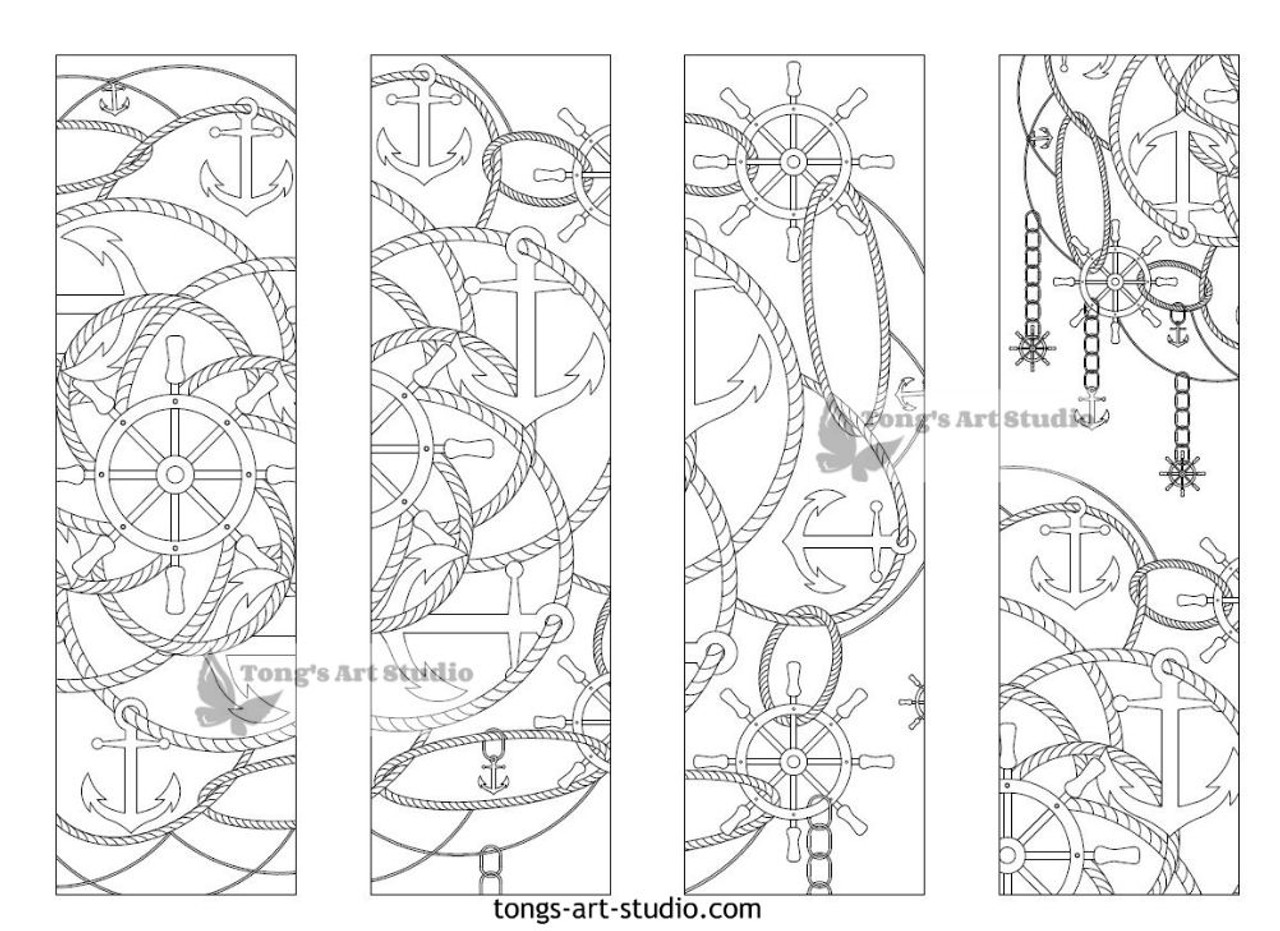 4 Printable Mandala Coloring Bookmarks-19-1