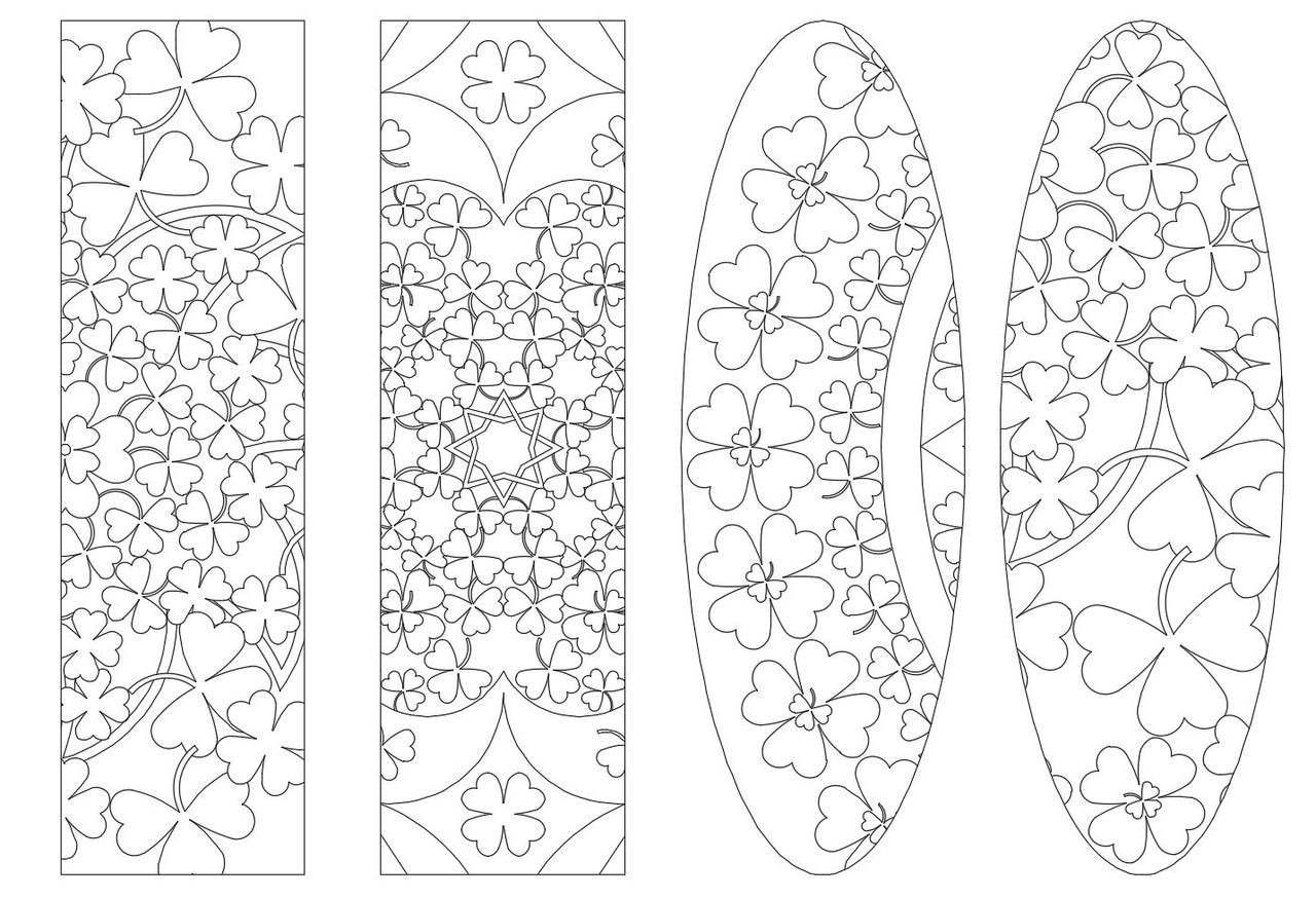 4 Printable St.Patrick\'s Day Coloring Bookmarks-46