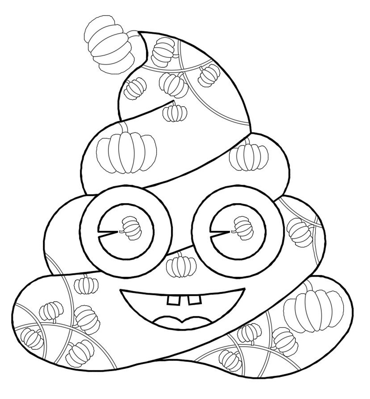 photograph about Printable Emoji Coloring Sheets titled Printable Poop Emoji Coloring -Boy or girl - Pumpkin, Pumpkin coloring web pages, Poop Emoji coloring