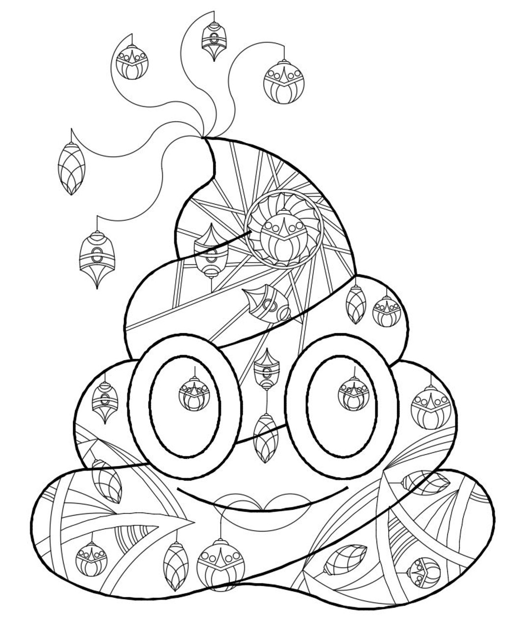 Christmas Coloring Pages - Easy Peasy and Fun | 1280x1075