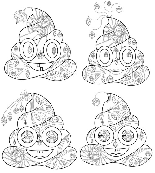 4 printable poop emoji coloring collection christmas christmas coloring pages poop emoji coloring