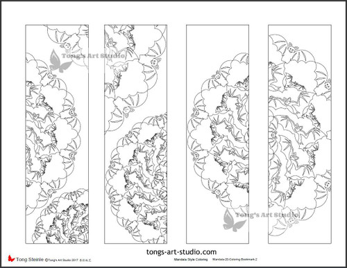4 Printable Mandala Coloring Bookmarks-20-2