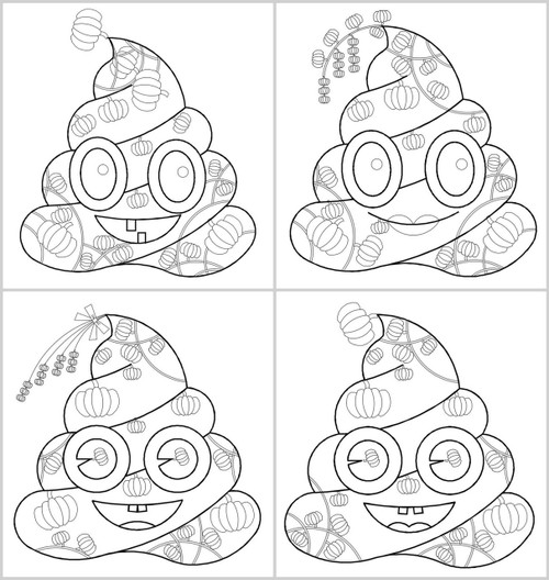 photo relating to Emoji Coloring Pages Printable identify 4 Printable Poop Emoji Coloring Selection - Pumpkin, Pumpkin coloring web pages, Poop Emoji coloring
