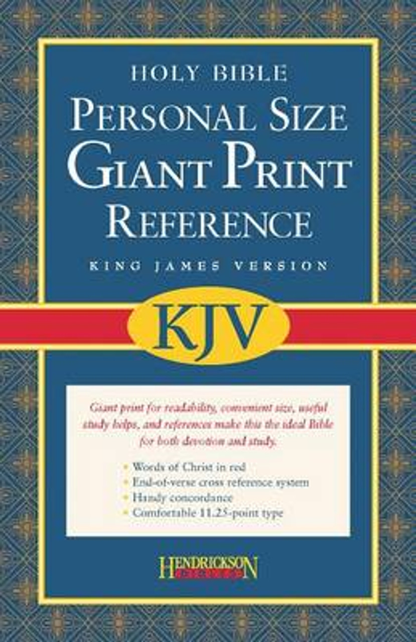 KJV Personal Size Giant Print Reference Bible [9781598560954]