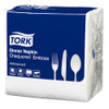 Tork White Chequered 8 Fold Dinner Napkin 2Ply 960 Napkins (2314369) Tork Products