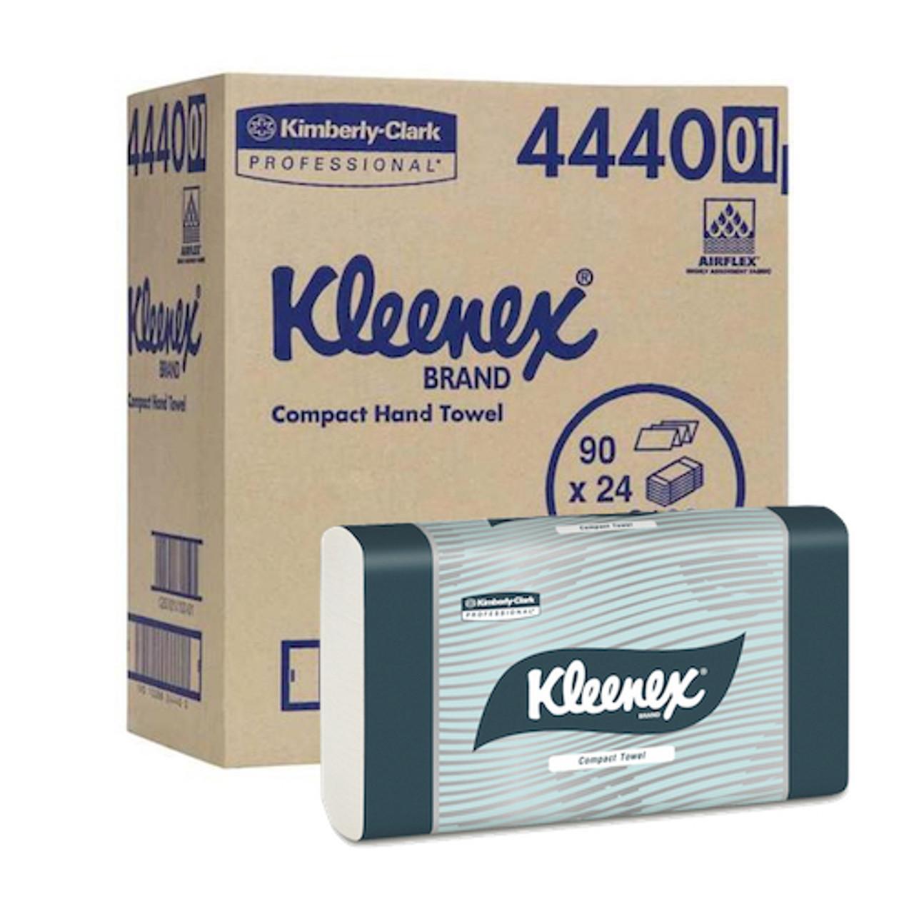 Kimberly Clark Kleenex Compact Hand Towel 24 Packs x 90 Towels (4440) Kimberly Clark Professional