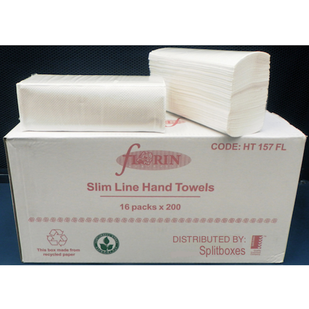 Florin Slimline Multifold Hand Towel 16 Packs x 200 Towels (HT157FL)  Florin Products