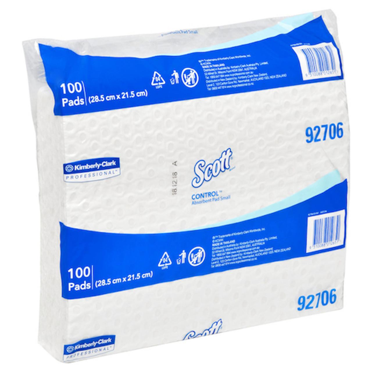 Scott Control Small Absorbent Pads 28.5cm x 21.5cm 100 Pads (KC92706) Kimberly Clark Professional
