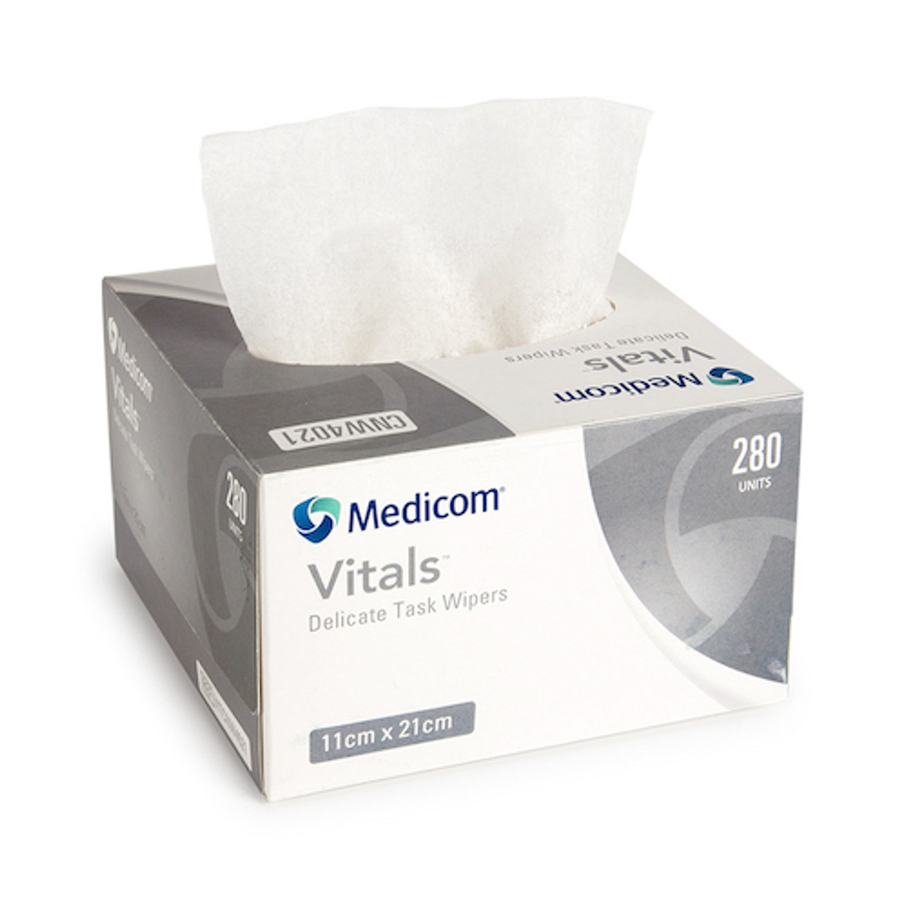 Medicom Vitals Delicate Task Wiper 280 Wipers Low Lint Wipers