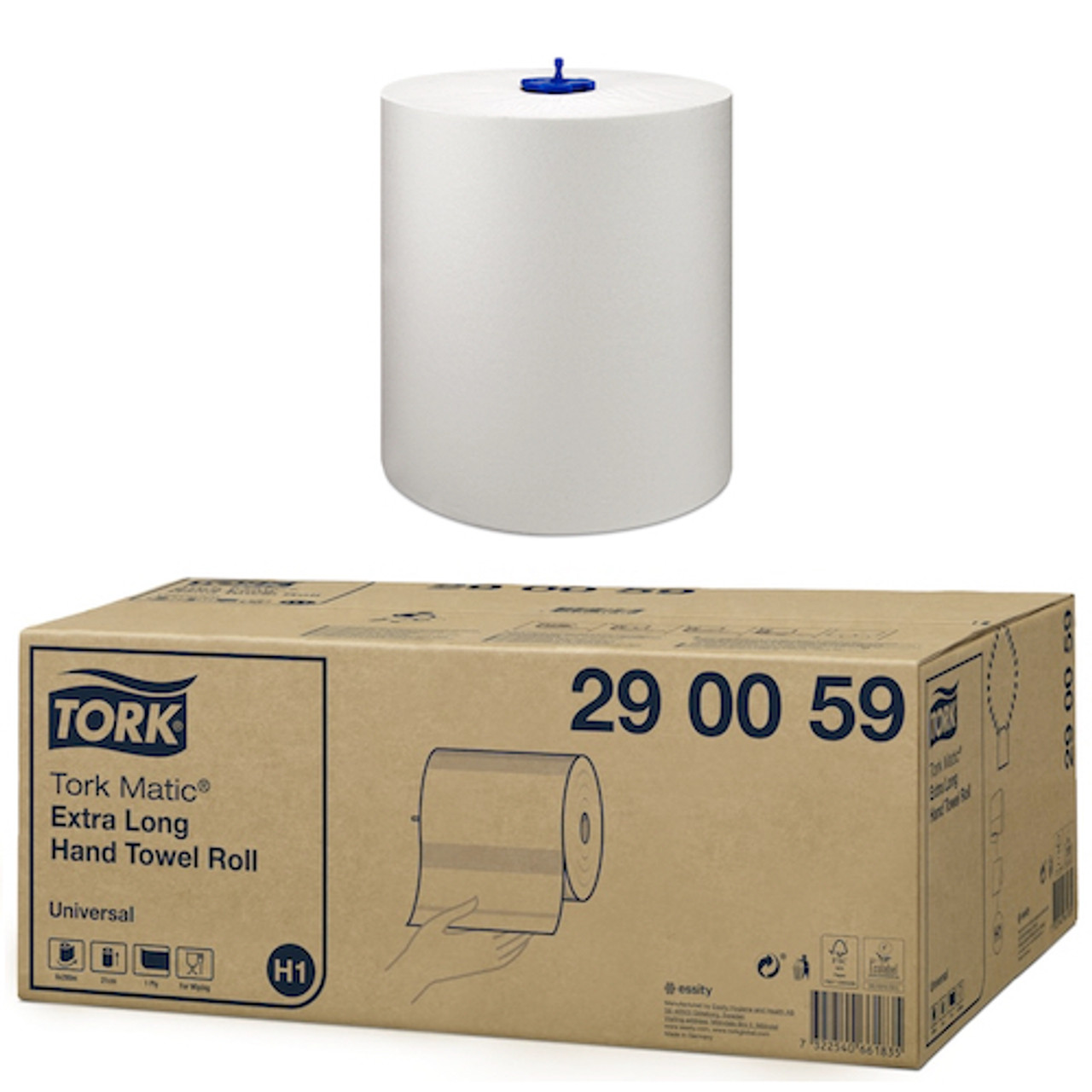 Tork Matic Extra Long Hand Towel Roll H1 System 6 Rolls (290059)