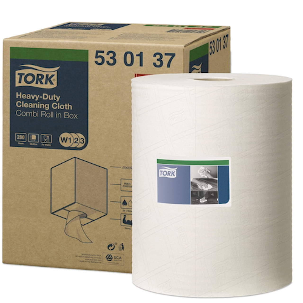 Tork Heavy-Duty Cleaning Cloth Combi 1Ply (530137)
