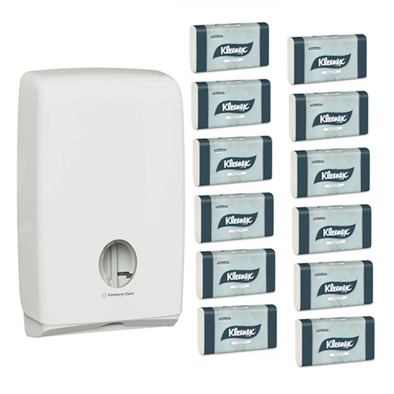 Kimberly Clark Kleenex Compact Hand Towel Starter Pack (4440 70240) Kimberly Clark Professional