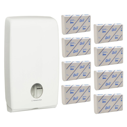 Scott Interleaved Optimum Hand Towel Starter Pack (4457 70250) Kimberly Clark Professional