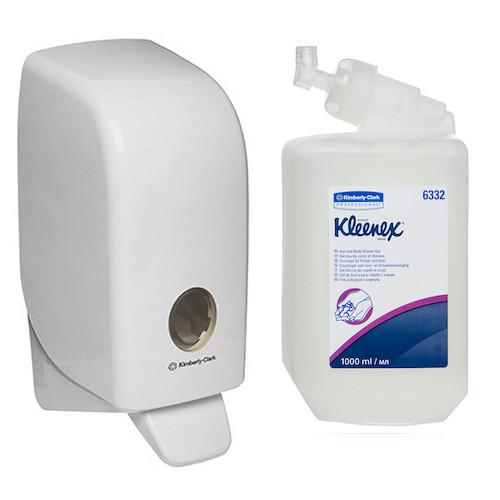 Kleenex Hair & Body Shower Gel Starter Pack (6332 69480) Kimberly Clark Professional