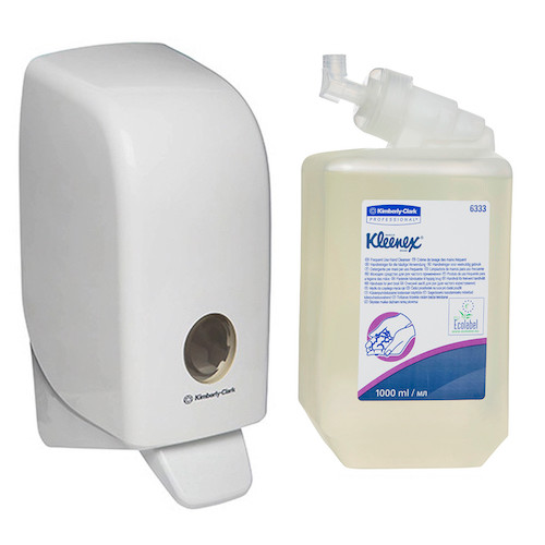 Kleenex Frequent Use Hand Soap Cleanser Starter Pack (6333 69480) Kimberly Clark Professional