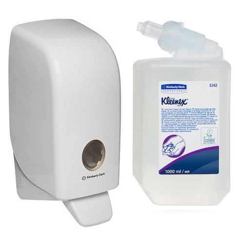 Kleenex Lux Foam Frequent Use Hand Soap Starter Pack (6342 69480) Kimberly Clark Professional