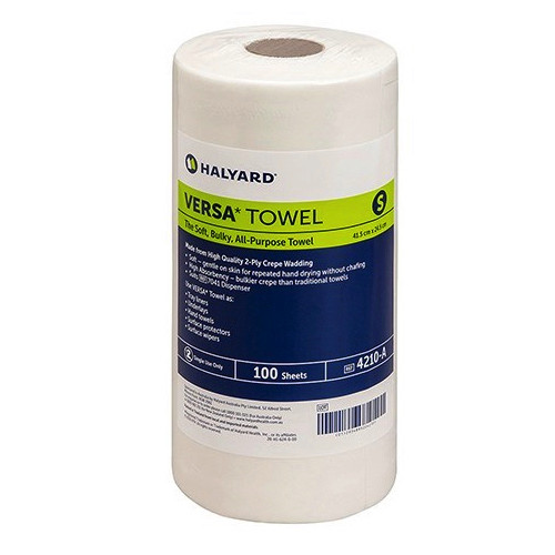 Halyard Versa Towel Small 24.5cm x 41.5cm 16 Rolls (4210) Halyard Health