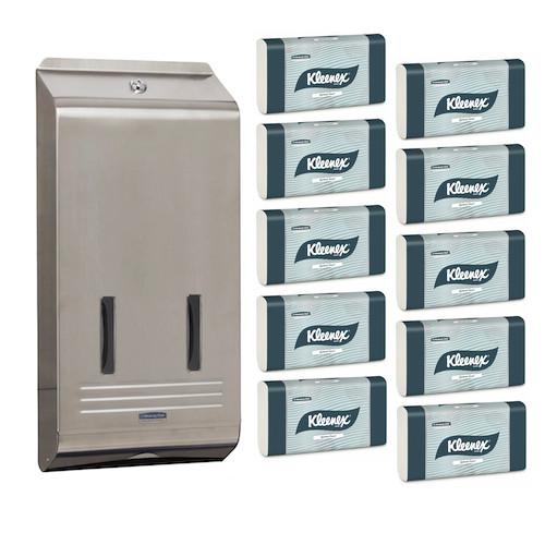 Kleenex Optimum Hand Towel Stainless Steel Starter Pack (4456 4950) Kimberly Clark Professional