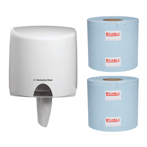 Kimberly Clark Roll Control Centrefeed Wiper Starter Pack (94126 70180) Kimberly Clark Professional