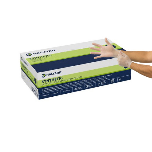 Halyard Synthetic Vinyl Powder-Free Exam Gloves Small 100/box (55031) Halyard Health