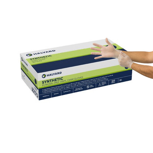 Halyard Synthetic Vinyl Powder-Free Exam Gloves Large 100/box (55033) Halyard Health
