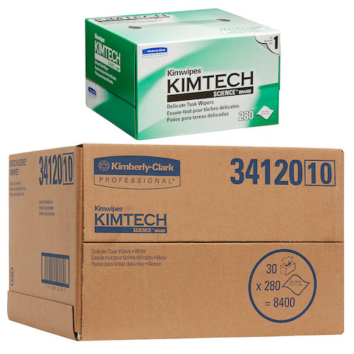 Kimtech Science Kimwipes Delicate Task Wipers 30 Boxes (34120) Lens Cleaning Microfibre Wipers Kimberly Clark Professional