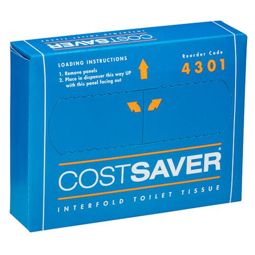 Kimberly Clark COSTSAVER Interfold Toilet Tissue 72 Packs (4301) Kimberly Clark Professional