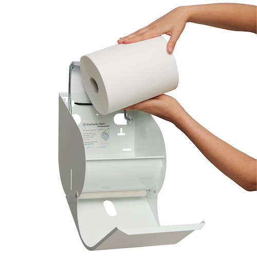 Kimberly Clark Roll Towel Dispenser White Enamel (4941) Kimberly Clark Professional