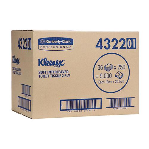 Kimberly Clark Kleenex Interleaved Toilet Tissue 2Ply 36 Packs (4322) Kimberly Clark Professional