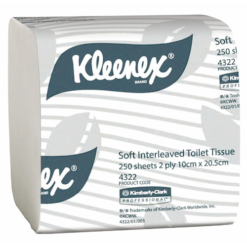 Kimberly Clark Kleenex Interleaved Toilet Tissue 2Ply 36 Packs (4322) Kimberly Clark Professional