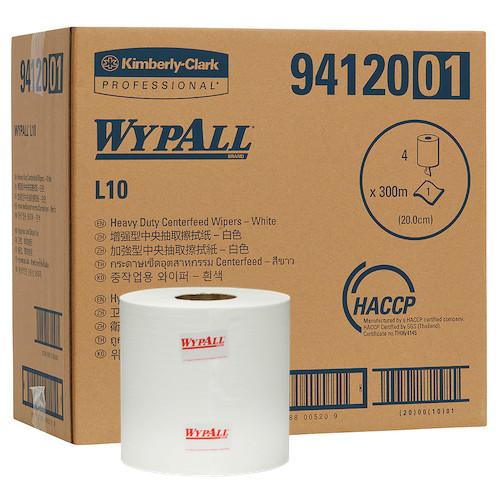 Kimberly Clark Wypall L10 Heavy Duty Centrefeed Wipers 4 Rolls (94120) Kimberly Clark Professional