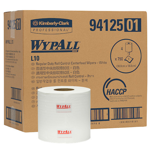 Kimberly Clark Wypall L10 Centrefeed Wipers 4 Rolls (94125) Kimberly Clark Professional