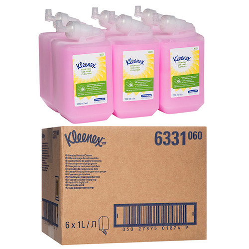 Kleenex Everyday Use Hand Soap Cleanser 6 x 1 Litre (6331) Kimberly Clark Professional