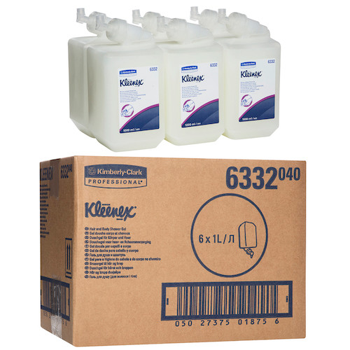 Kleenex Hair & Body Shower Gel 6 x 1 Litre (6332) Kimberly Clark Professional