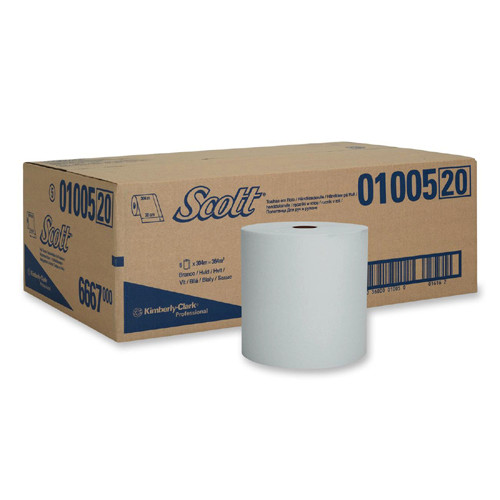 Kimberly Clark Scott® Hard Roll Towel 20cm x 304m White 6 Rolls (1005) Kimberly Clark Professional