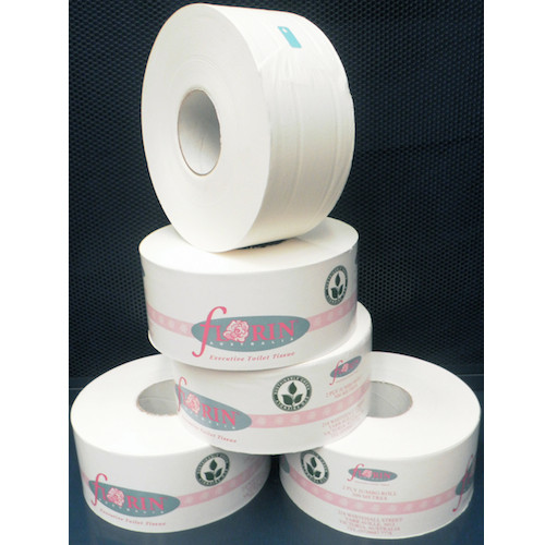 Jumbo Roll Toilet Tissue 2 Ply 300 Metres x 8 Rolls (GTR300FL) Florin Products