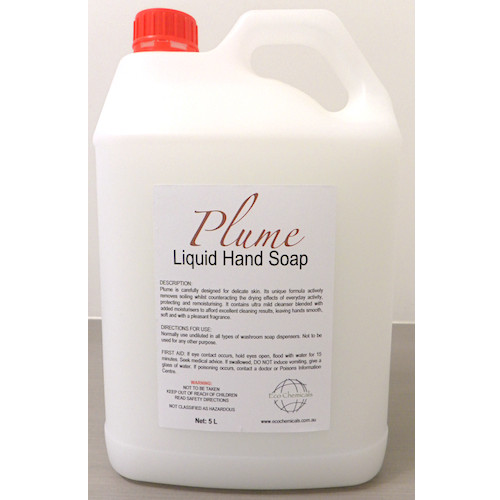 Plume White Liquid Hand Soap 5L With Added Moisturiser (WHS5L) Cleaning Chemicals by Eco Chemicals